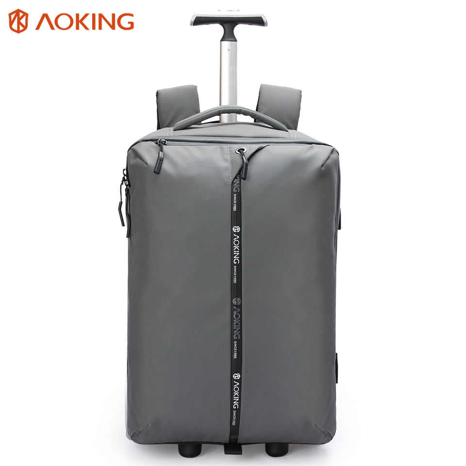Trolley bag with raised rivets preventing from fraying and dirty