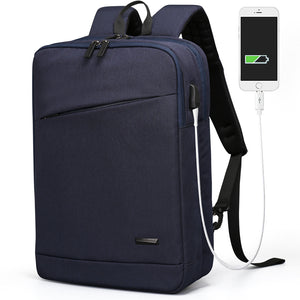 Aoking High Quality USB Charging Special Pocket  Business Backpack Women Unisex Men's Two Style Functional Backpacks for Laptop