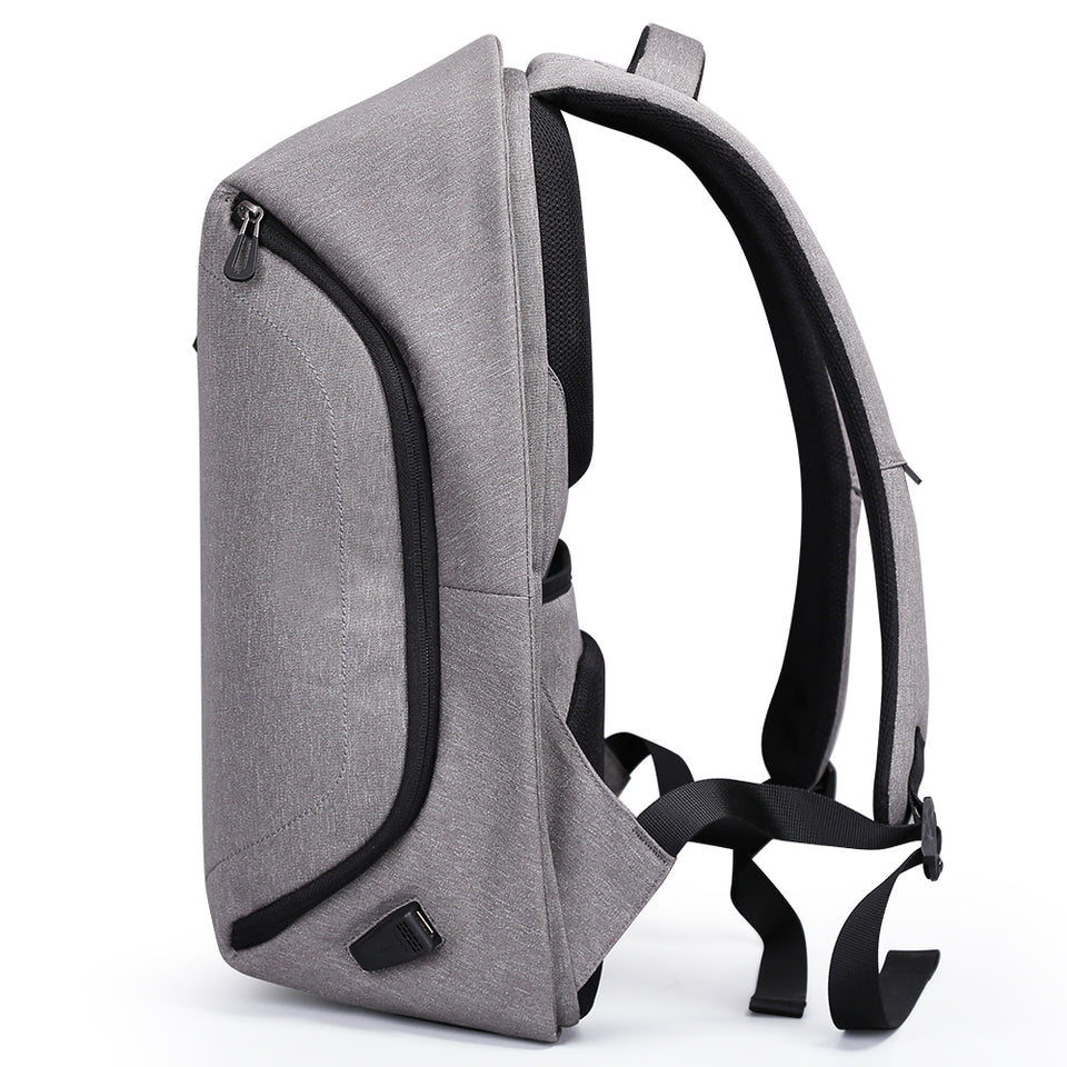 Backpack with back tie straps