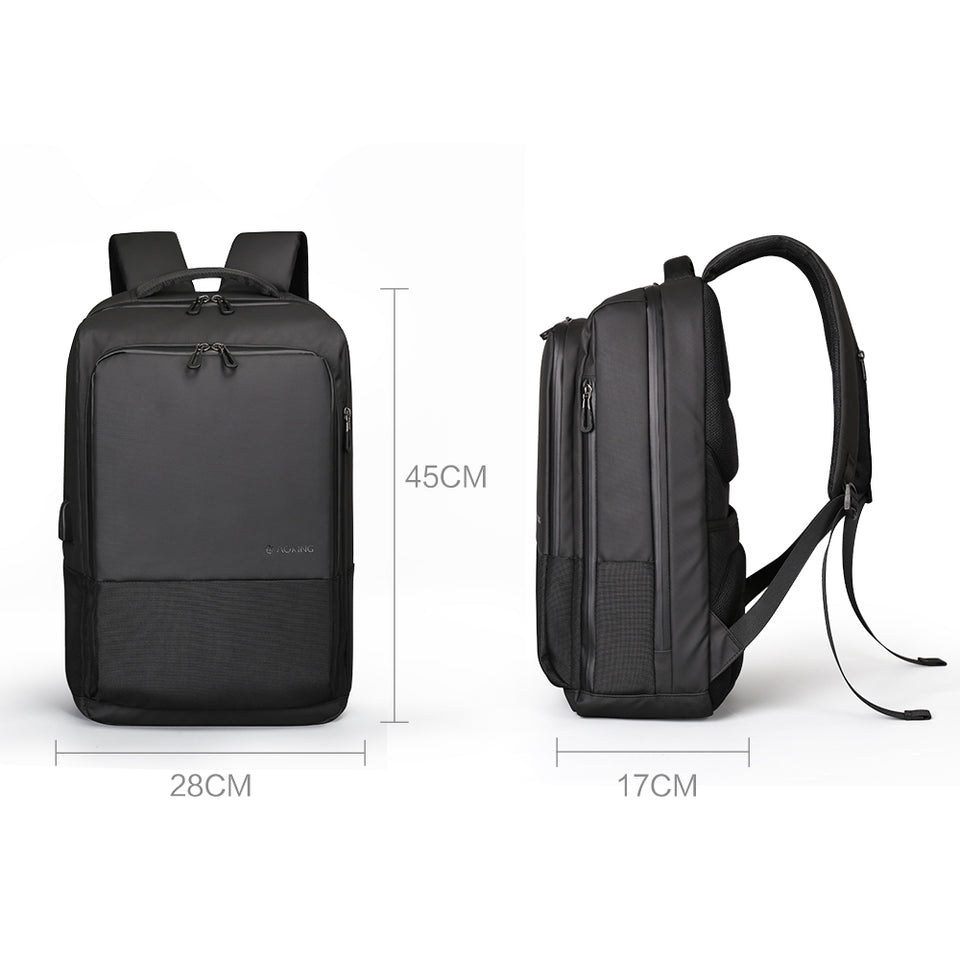 Aoking Top Fashion Men Backpack Simple USB Charging Water Resistance 15.6 Laptop Backpack College Student Rucksack Daypack