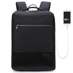 Men backpack with USB charging port