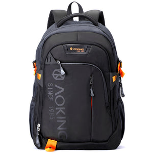 Aoking Men Women Fashion Lightweight Casual Travel Backpack Massage Shoulder Straps Laptop Backpack School Waterproof Rucksack(Chest Pack Not Included)