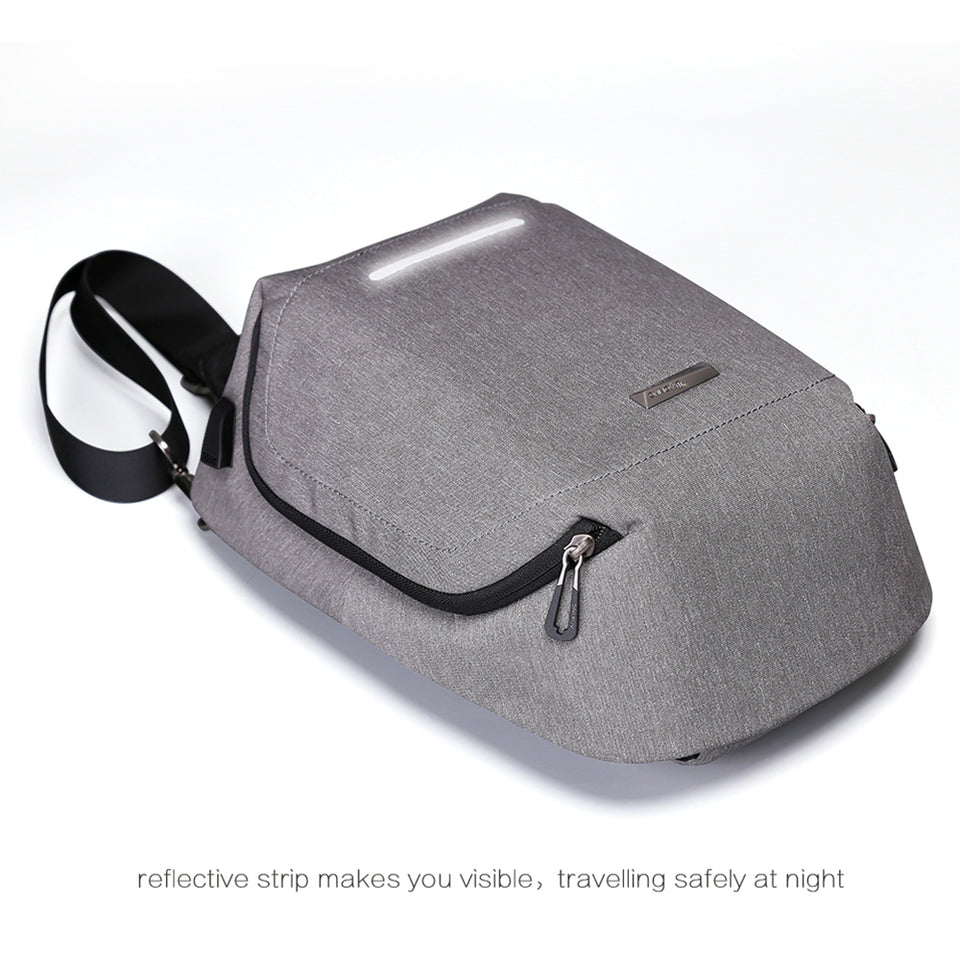 Fashion backpack with reflective strip