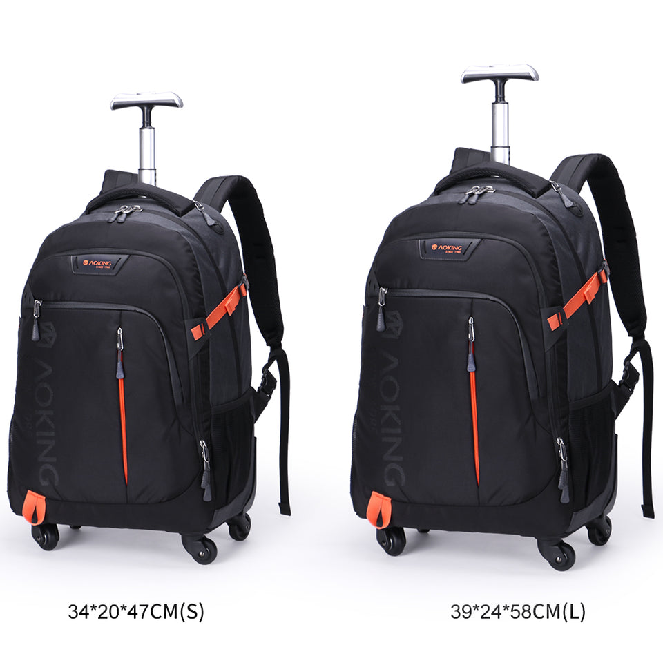 2 sizes rolling bag for men and women