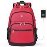 College backpack with rust resistant handle