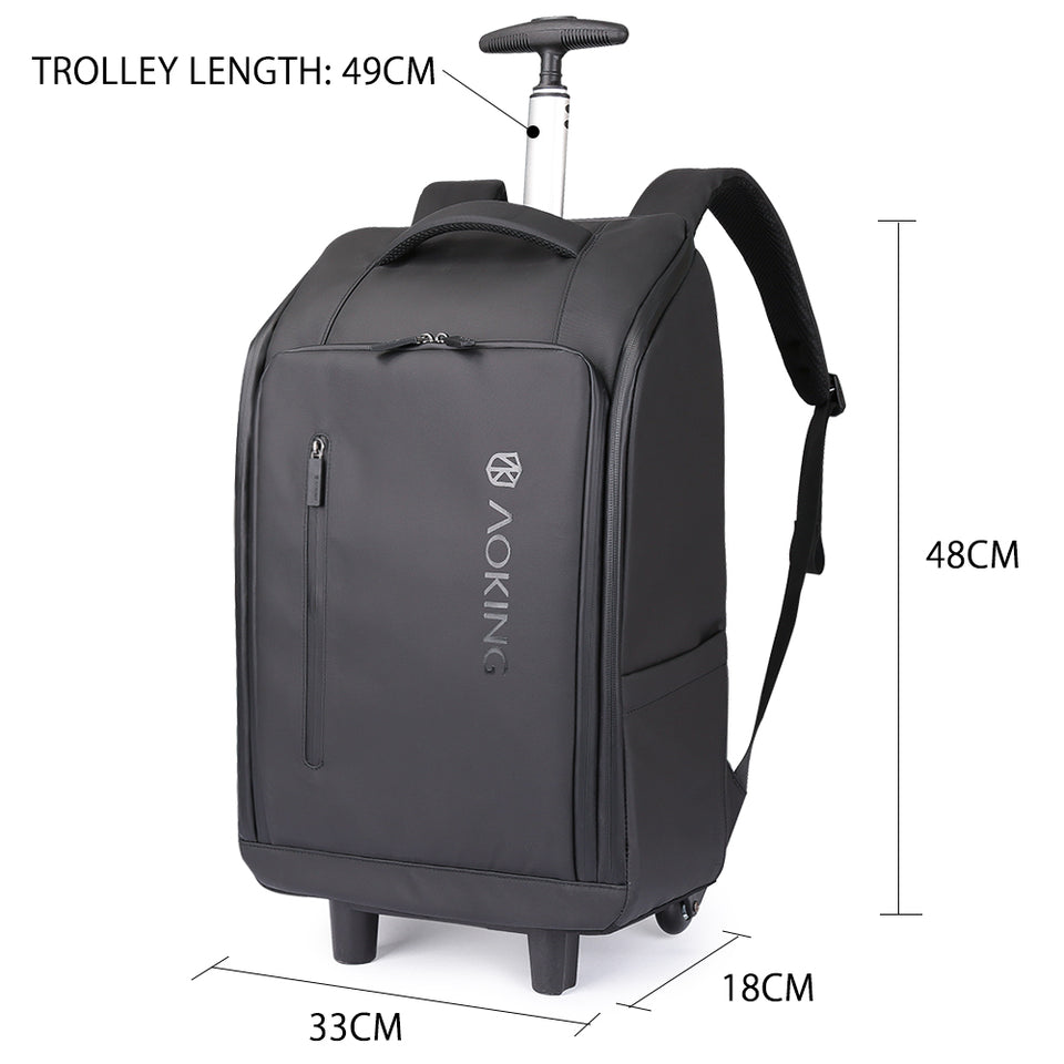 Aoking 2019 New ABS Trolley Luggage Waterproof Carry-on Bags Business Trip Luggage Travel Bags Large Capacity Trolley Bags
