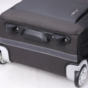 Durable rolling suitcase with large wheels