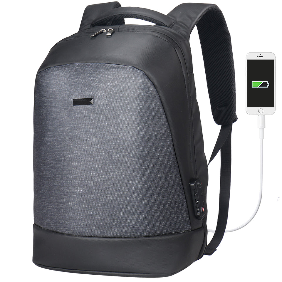 Business backpack with external USB port