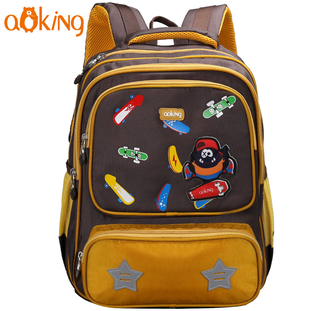 Kids Boys Girls Waterproof Shoulder Backpack Reflective Safe School Book Bag