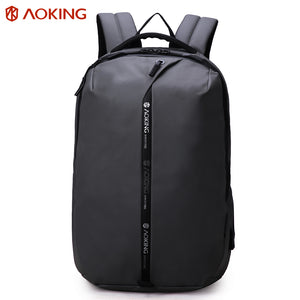 Durable polyester backpack with reflective strip