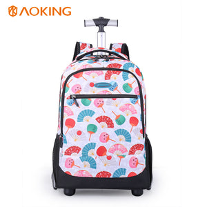 Large capacity trolley backpack durable
