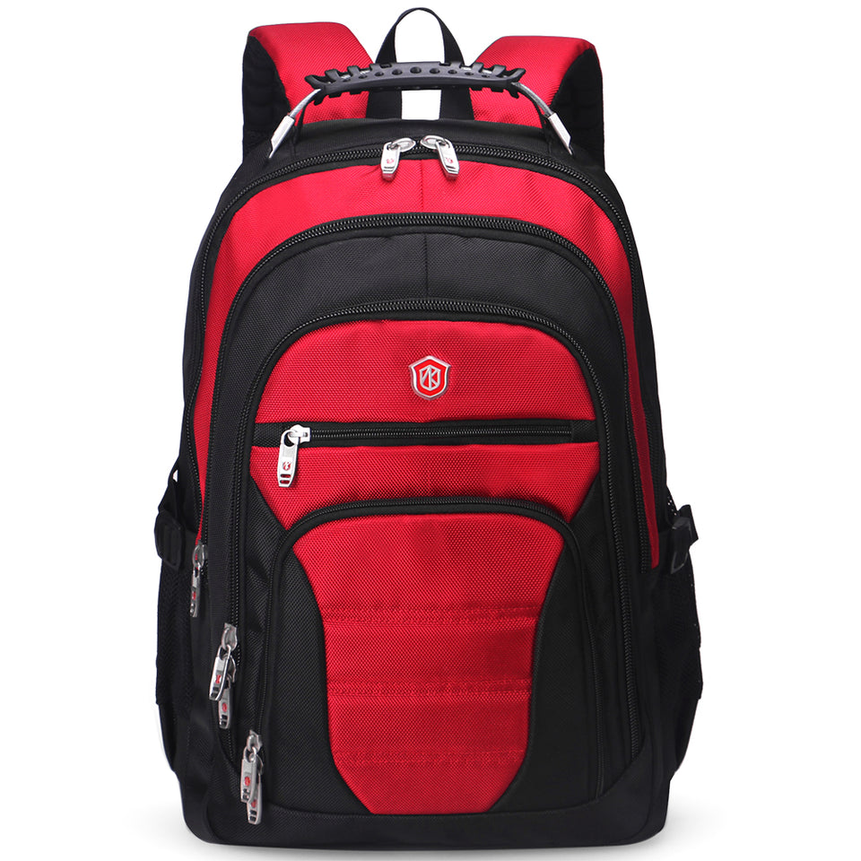 red laptop backpack