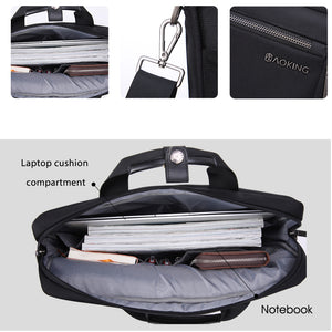 Aoking Spacious Anti-theft Briefcase Men Business Shoulder Bag
