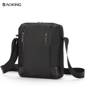 Aoking Spacious Male Adjustable Simple Design Crossbody Bag