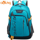Aoking Nylon Waterproof Laptop Backpack Men Women Travel Bag Classic Schoolbag For Boys Girls