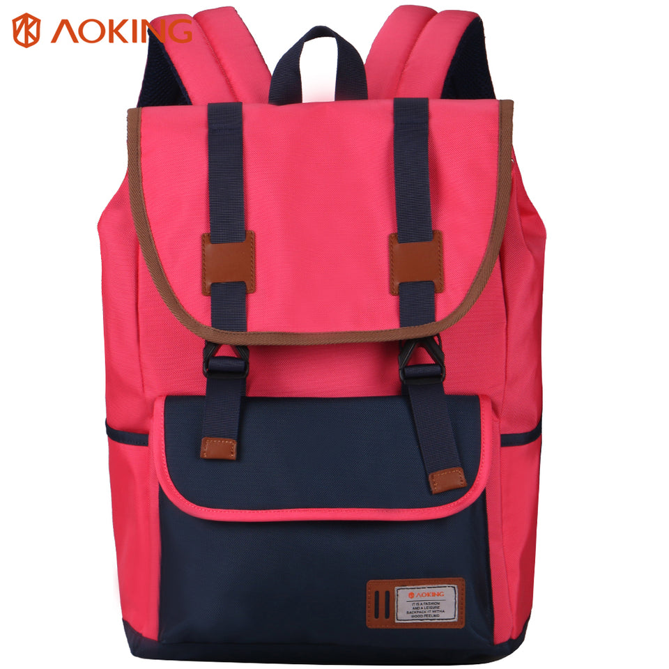 School bag with magnet buckle