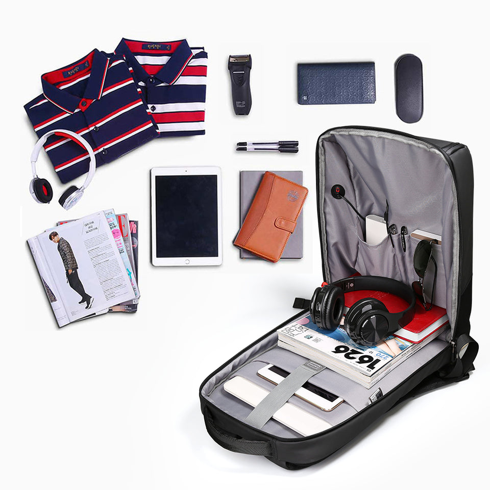 USB Travel Business Backpack Men