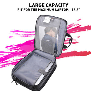 Aoking Multifunctional Men Business Backpack 15.6'' Laptop Bag Spacious Shoulder Bag with Card Pocket
