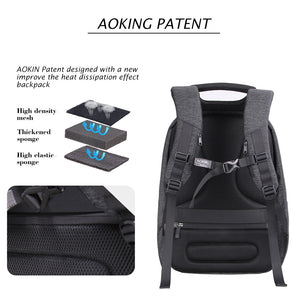 School bag with external USB port