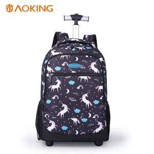 Digit printing Trolley backpack