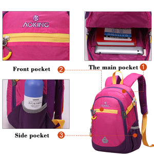 Aoking Women Waterproof Backpack College High School Bags For Teenager Boy Laptop Travel Men Backpacks Girls Rucksacks Mochila