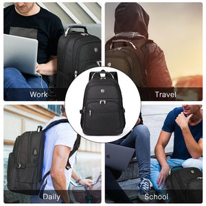 Large capacity school backpack