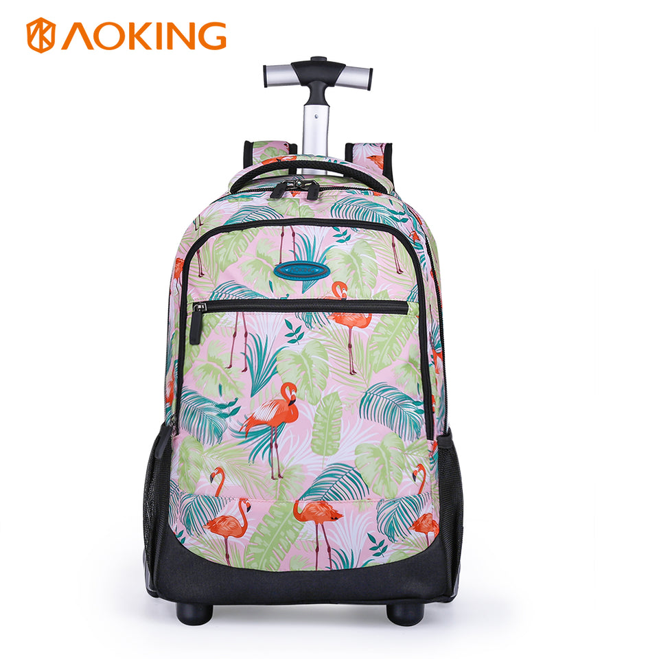 Flamingo girls travel rolling luggage