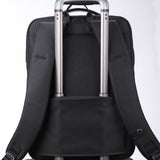 Classic travel backpack with back tie strap