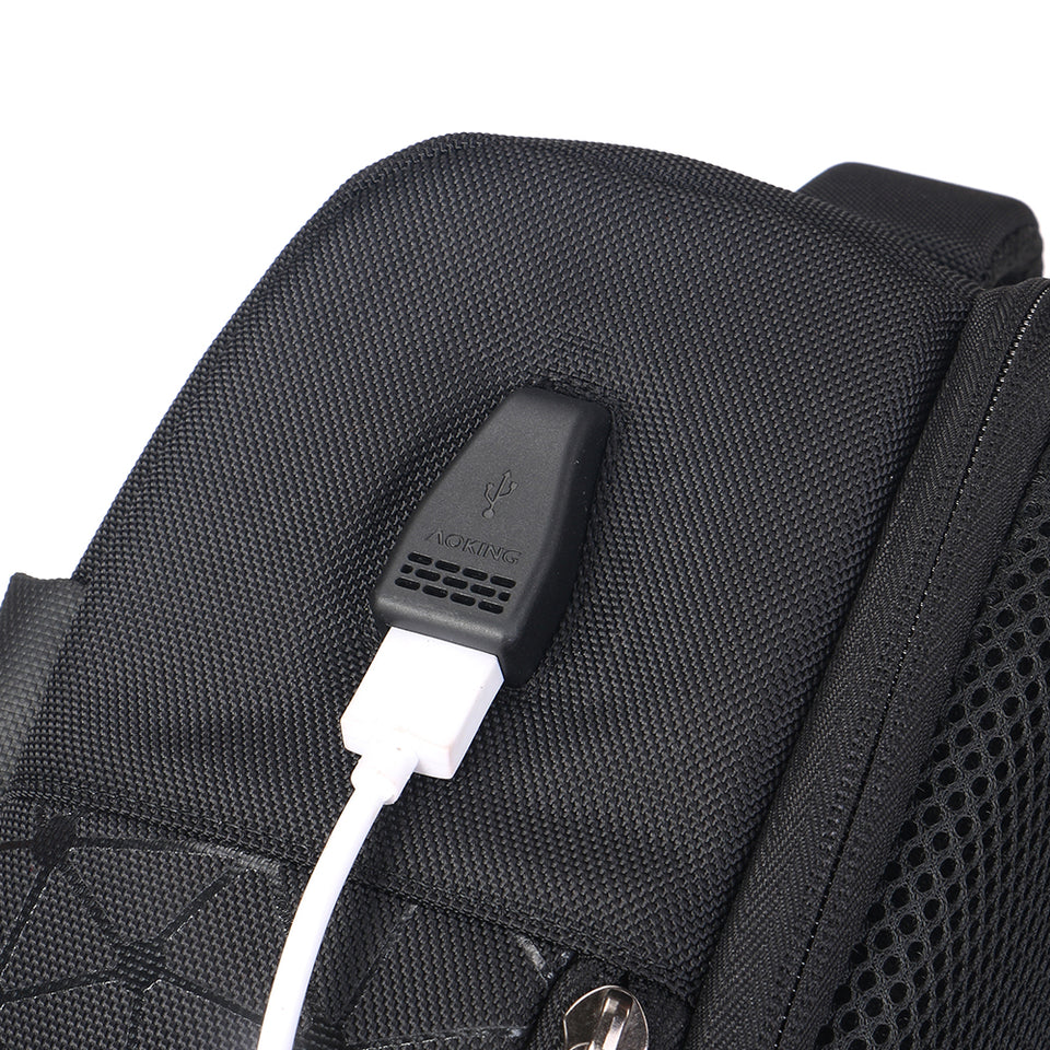 men usb charging backpack