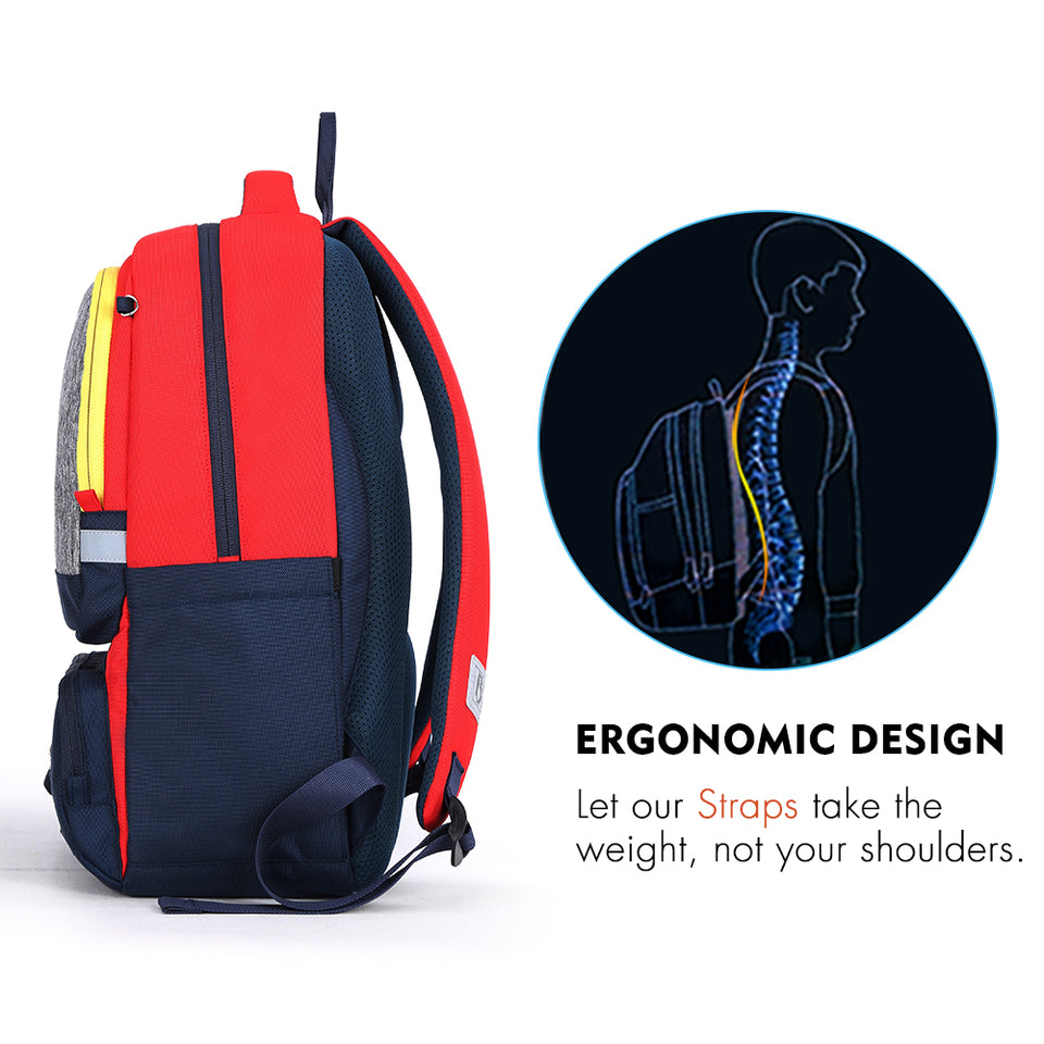 Waterproof travel bag for children with reflective strip