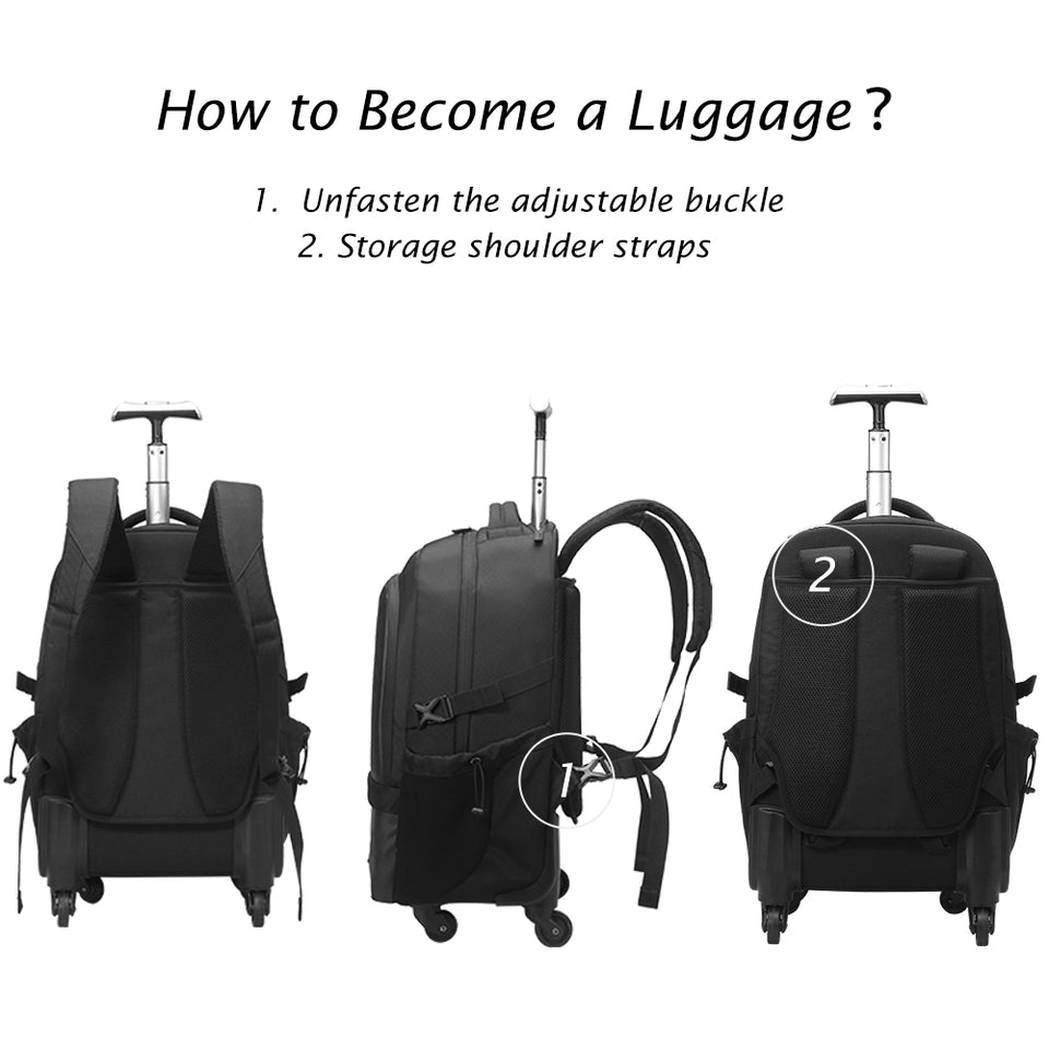 Durable travel backpack with independent computer layer