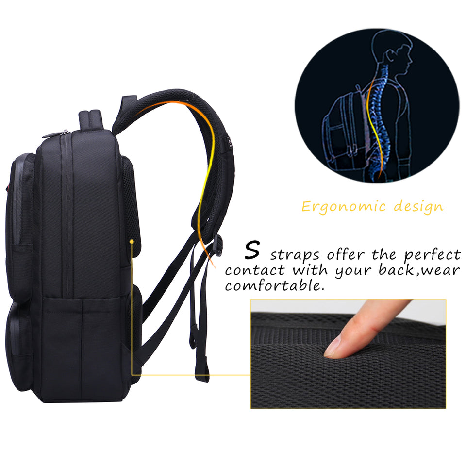 Ergonomic laptop backpack for short trip