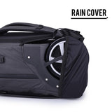 Multifunctional travel suitcase with rain cover