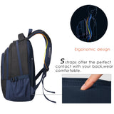 Casual school bag with ergonomic design