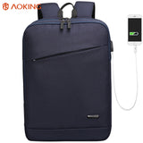 School backpack with external USB port