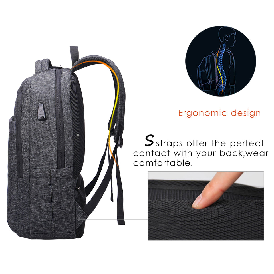 Ergonomic design business backpack