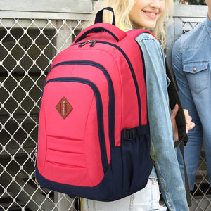 Classic school backpack with fresh color