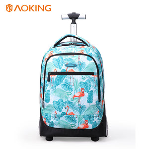 Anti theft girls travel rolling suitcase