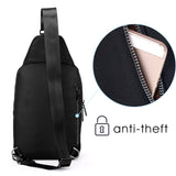 Mens sling bag backpack