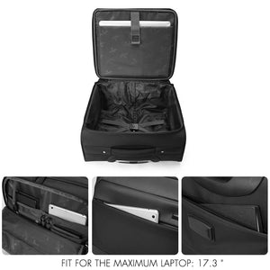 Wheeled laptop suitcase