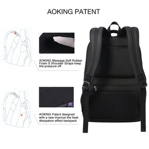 Ergonomic design business backpack with key chain holder