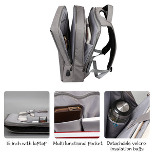 Large capacity business backpack with independent computer layer