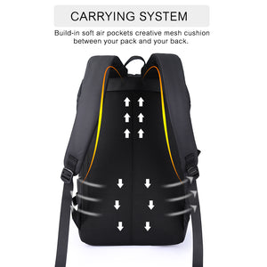 Daily backpack with external USB port