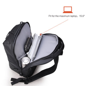 Anti theft men's schoolbag
