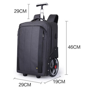 Trolley bag with anti-theft hidden pocket