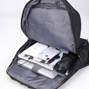 Waterproof travel bag with external USB port