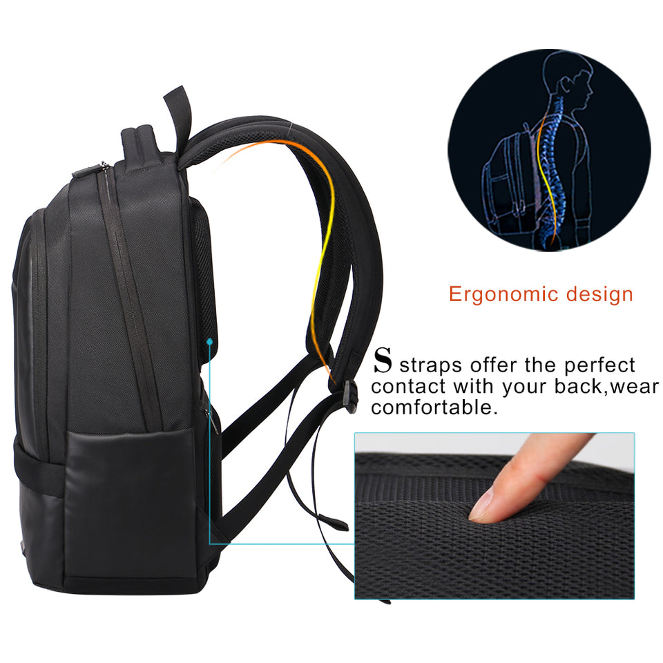 Business backpack with independent computer layer