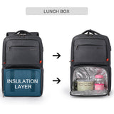 Business backpack with lunch box