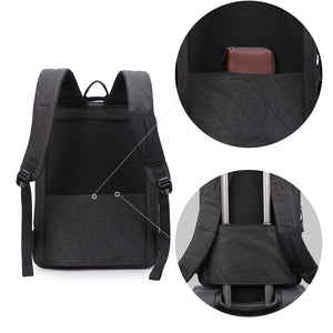Safety travel backpack with back tie strap