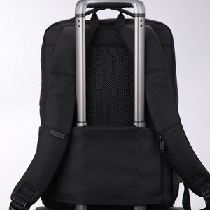 Travel backpack with back tie strap